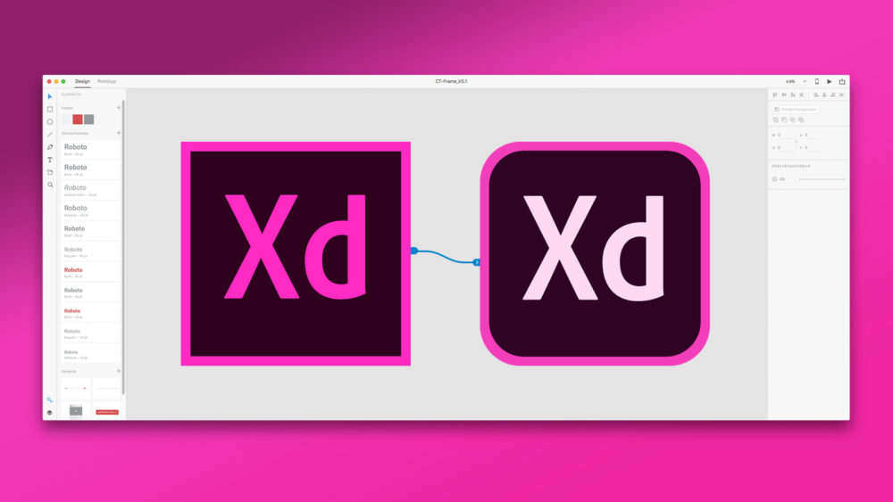 Adobe XD Interface