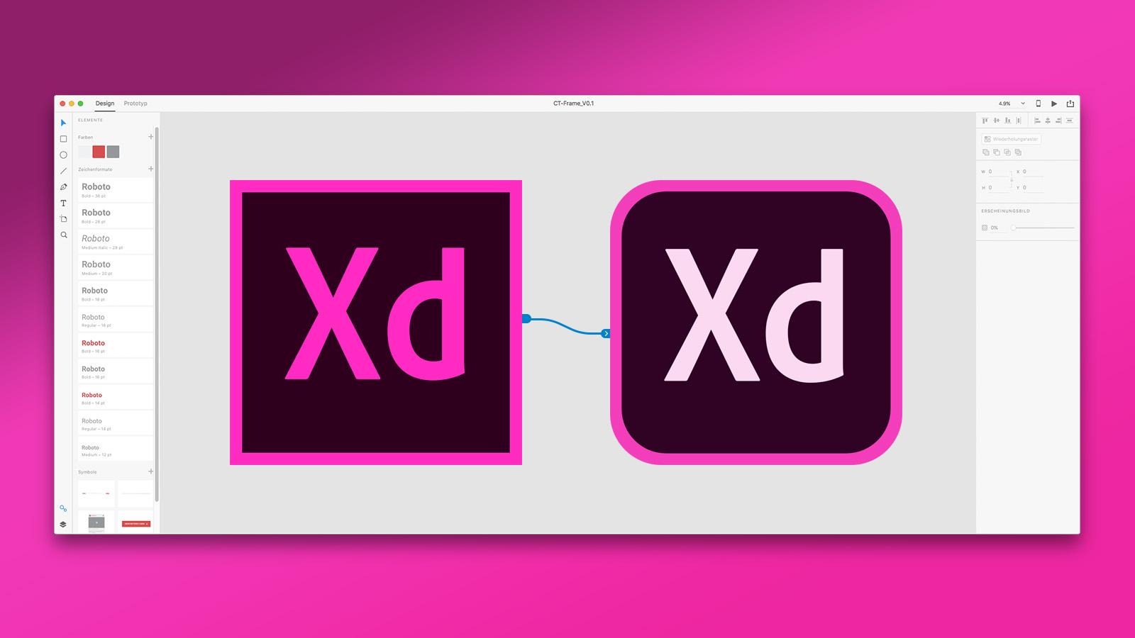 Adobe XD Interface